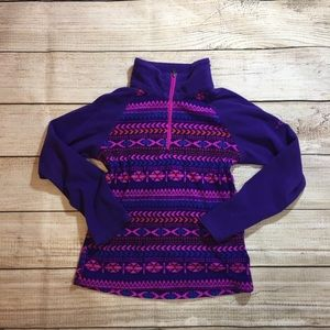 {Columbia} purple and pink pattern pop over